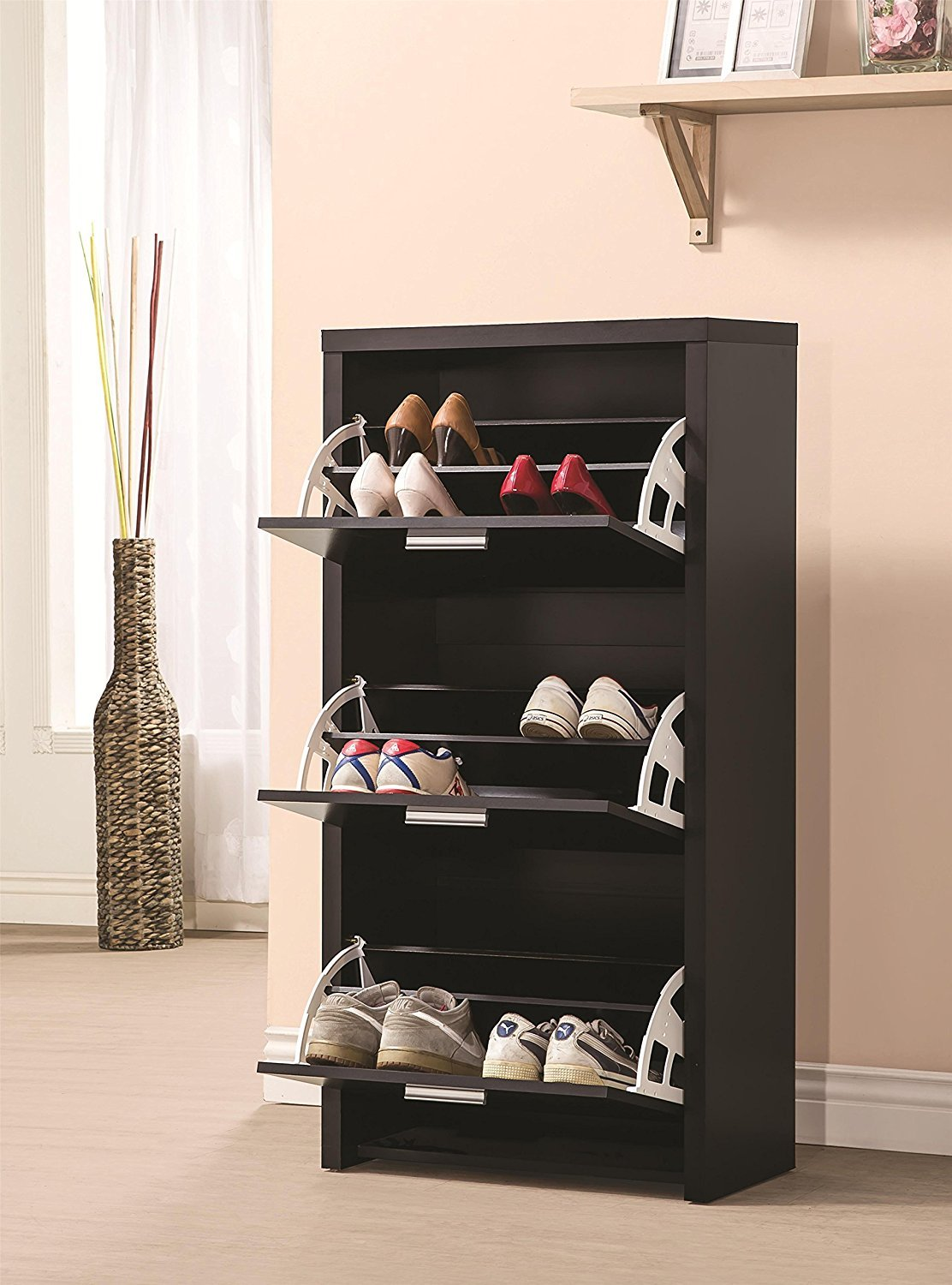 Tilt-out Shoe Cabinet Pros and Cons
