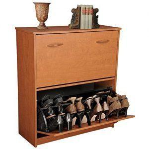 tilt-out shoe cabinet