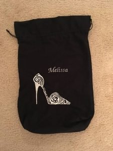 personalized shoe bag elsebeth