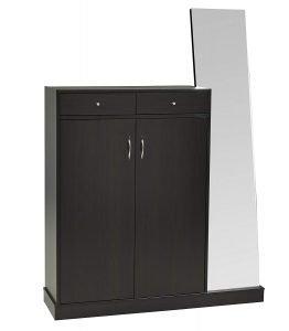 Brassex 13628 Shoe Cabinet W:Entry Mirror