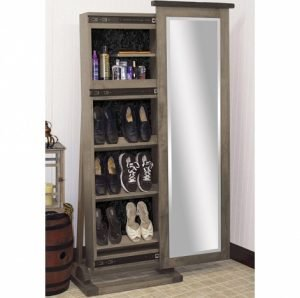 Cabinfield Cosmetic & Shoe Storage Sliding Leaner Mirror