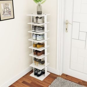 Costway Wooden Shoes Storage Stand 7 Tiers Shoe Rack Organizer