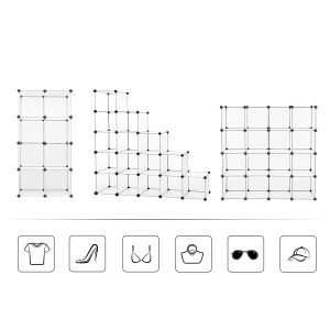 SONGMICS Cube Storage, Plastic Cube Organizer