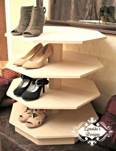 Spinning shoe organizer by ZenaidasDesigns