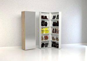 Tvilum Bright Shoe cabinet with mirror door
