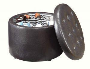 Convenience Concepts round shoe ottoman
