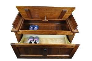 Mission Storage Shoe Bench, Michaels Stain