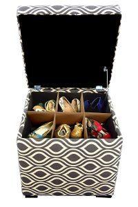 sole secret mini square shoe ottoman
