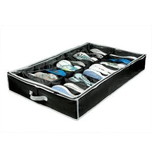 Richards Homewares Lack:Grey Gearbox 16 Cell Shoe Organizer