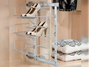 Emuca 7913725 Wardrobe Lateral Pull-out Shoes Rack