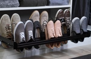 Hafele Engage Pull-Out Closet Shoe Organizer with Full Extension, Soft Closing, Undermount Slides