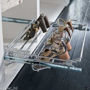 Wardrobe Pull-out Shoe Rack & Width Adjustable 564-1000 mm