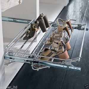 Wardrobe Pull-out Shoe Rack & Width Adjustable 564-1000 mm