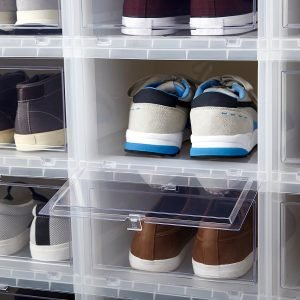 Container Store Men's Drop-Front Shoe Box