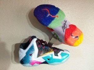 wall mounted sneaker side and sole