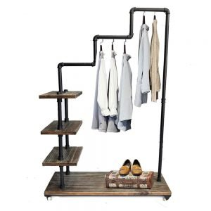 Diwhy Industrial Pipe Clothing Rack