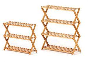 Rakumi Multi-Tier Foldable Bamboo Shoe Rack