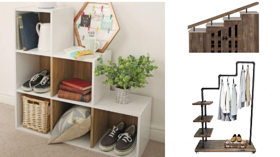 Stylish Shoe Cubby Bench