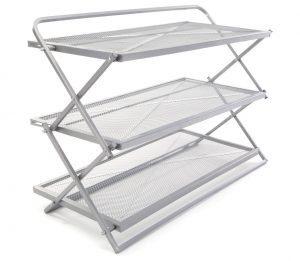 StoreSmith 3-Tier Folding Shoe Rack