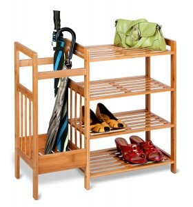 honeycando shoe rack with umbrella