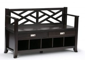 Simpli Home Contemporary Entryway Storage Bench