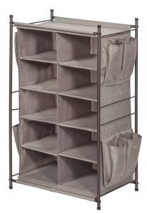 STORAGE MANIAC 5-Tier 10-Compartment Cubby Shoe Rack Organizer