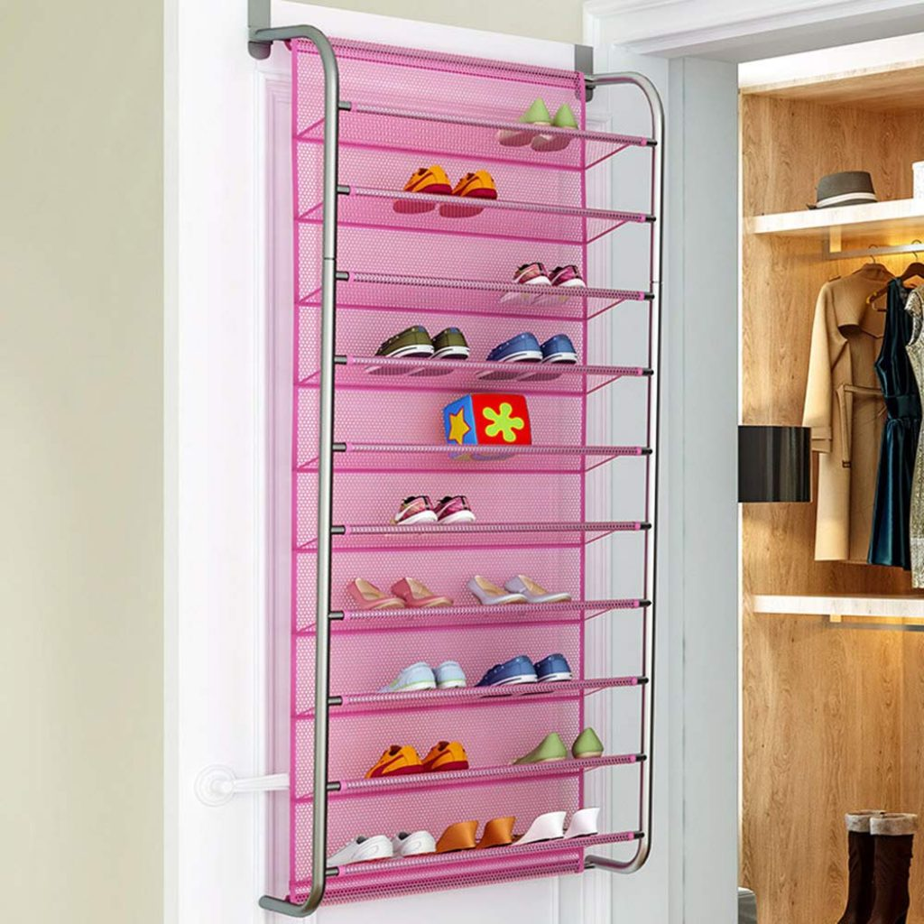 FUKO 10 tier over the door shoe organizer