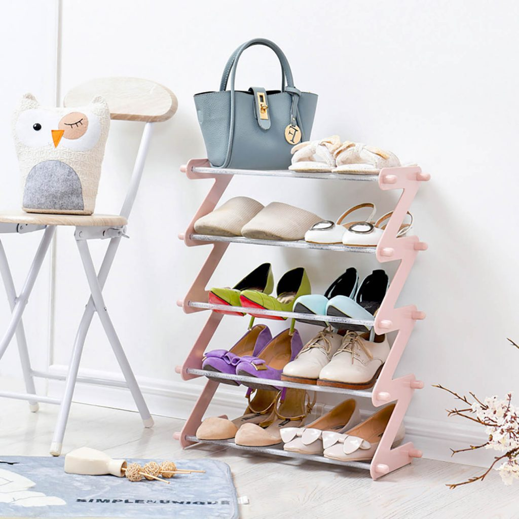 Life department store pink shoe rack