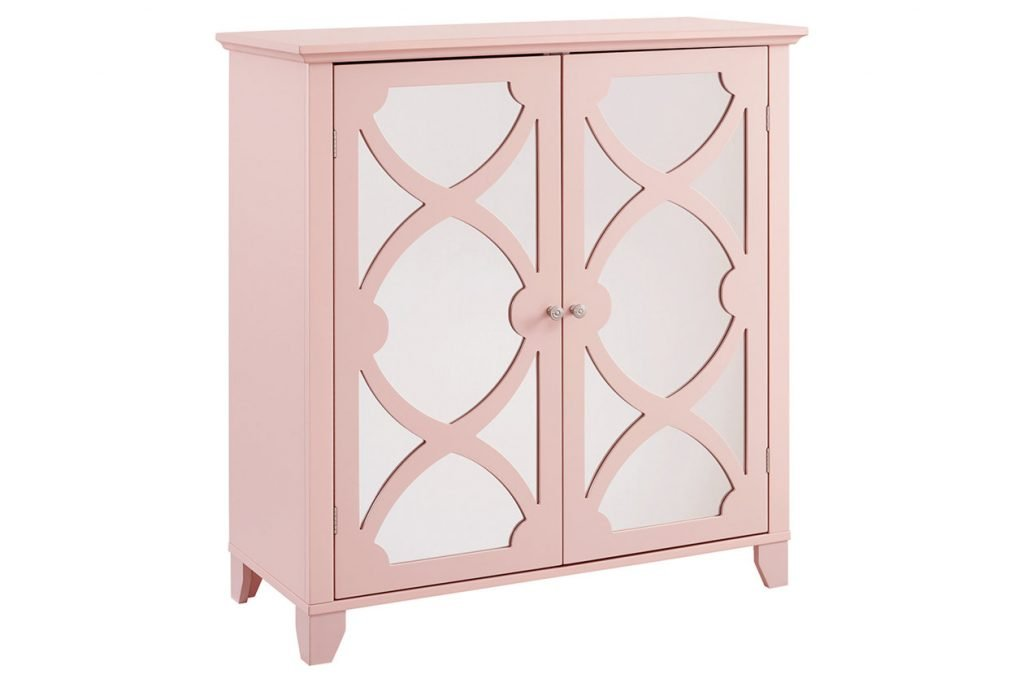 Winter Rose Large Cabinet With Mirror Door