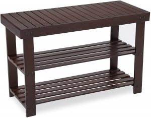 Songmics bamboo shoe rack bench