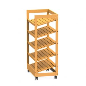 Bakery Bread Rack with Angled Shelves