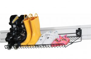 Gladiator slatwall shoe rack