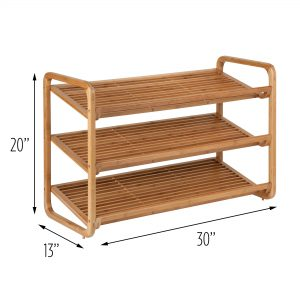 Honey can do bamboo shoe rack