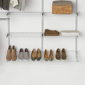 Rubbermaid shoe shelf